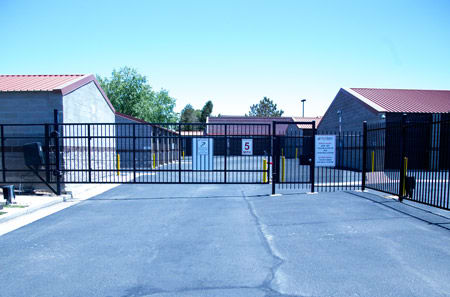 Aurora self storage gated facility