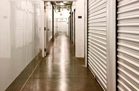 View of one of our interior storage unit hallways at StorQuest Self Storage