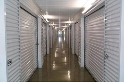Interior hallway for self storage units in Dallas