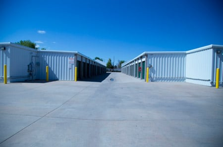 Exterior units at StorQuest Self Storage in Aurora, CO