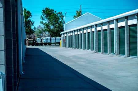 Exterior view of units of StorQuest Self Storage in Aurora, CO