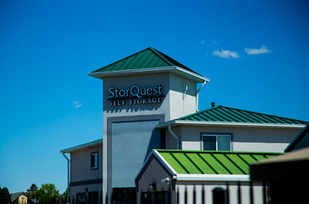Exterior view of StorQuest Self Storage in Aurora, CO