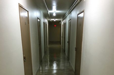 Storage hallway at StorQuest Self Storage in Claremont