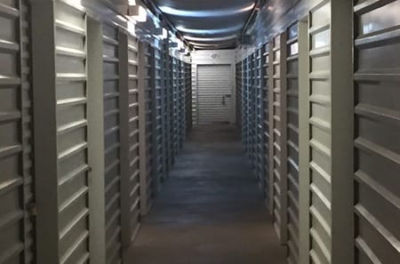 Interior storage units at StorQuest Self Storage in