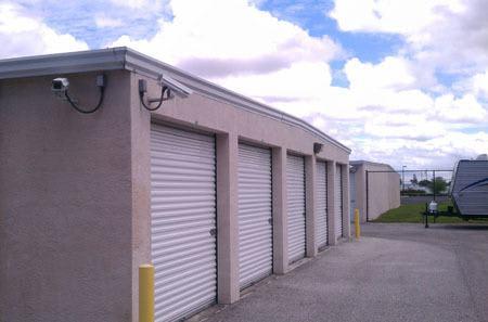 Exterior of storage units
