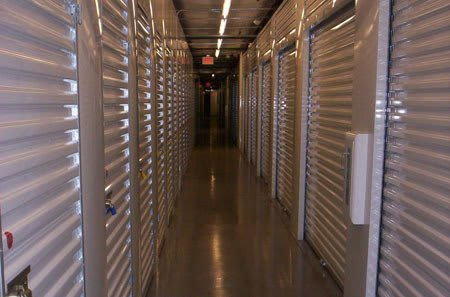 Interior of storage units