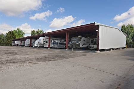 Covered RV storage at StorQuest Self Storage