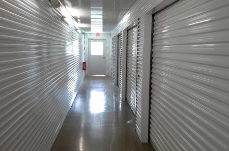 Moving truck and driver at Spring self storage