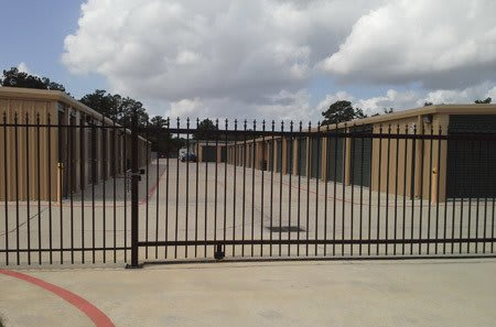 Gated entrance at StorQuest Self Storage in Spring