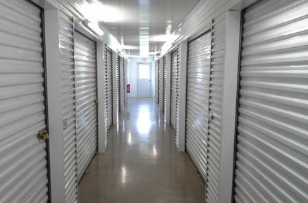 Interior self storage units at StorQuest Self Storage in Spring