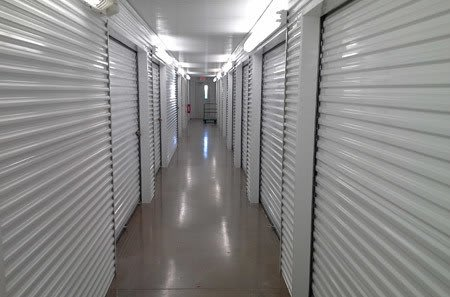 Interior hallway for self storage units in Sugar Land