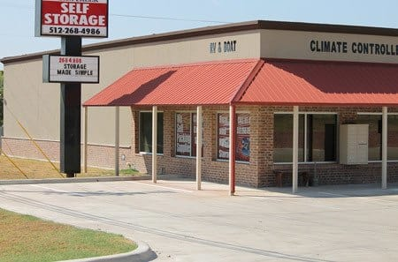 Kyle self storage facility entrance