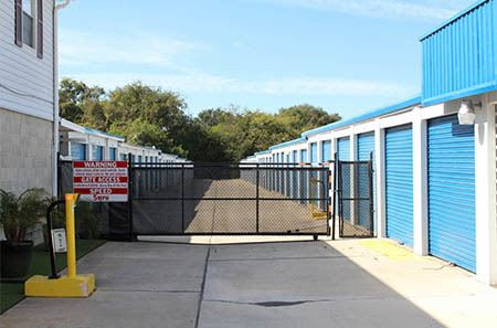 Gainesville self storage facility gate