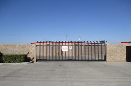 Entrance gate at StorQuest Self Storage