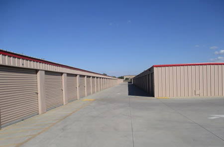 Storage units at StorQuest Self Storage in Ripon, CA
