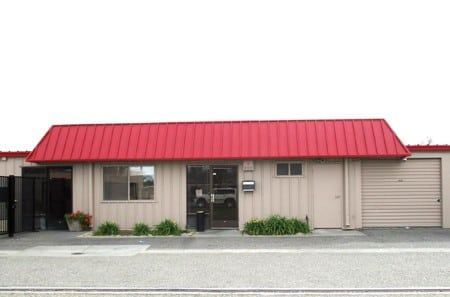 Self storage facility exterior in Modesto