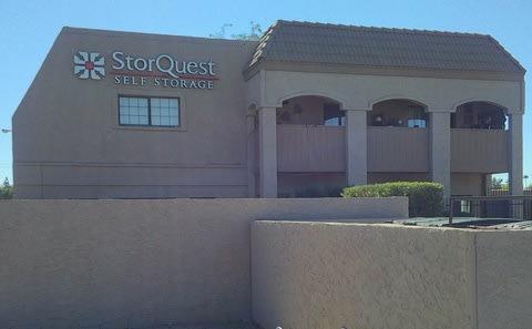 Main gate at StorQuest Self Storage