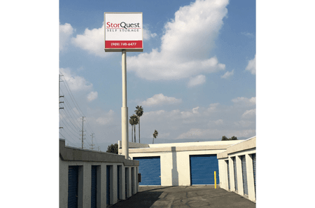 Exterior View Of Storage Units at StorQuest Self Storage in Loma Linda, CA