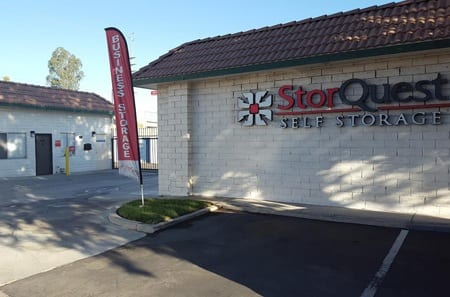 Entrance to StorQuest Self Storage in Loma Linda, CA
