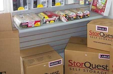 Packing supplies at StorQuest Self Storage