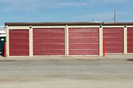 Exterior storage units at StorQuest Self Storage