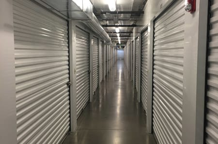 Interior view of storage units at StorQuest Self Storage in Reno