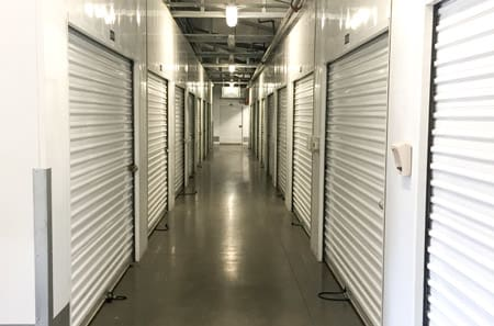 Inside storage at StorQuest Self Storage in Stockton, CA