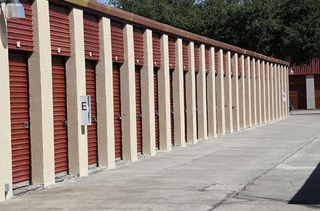 Self storage units at our tampa facility