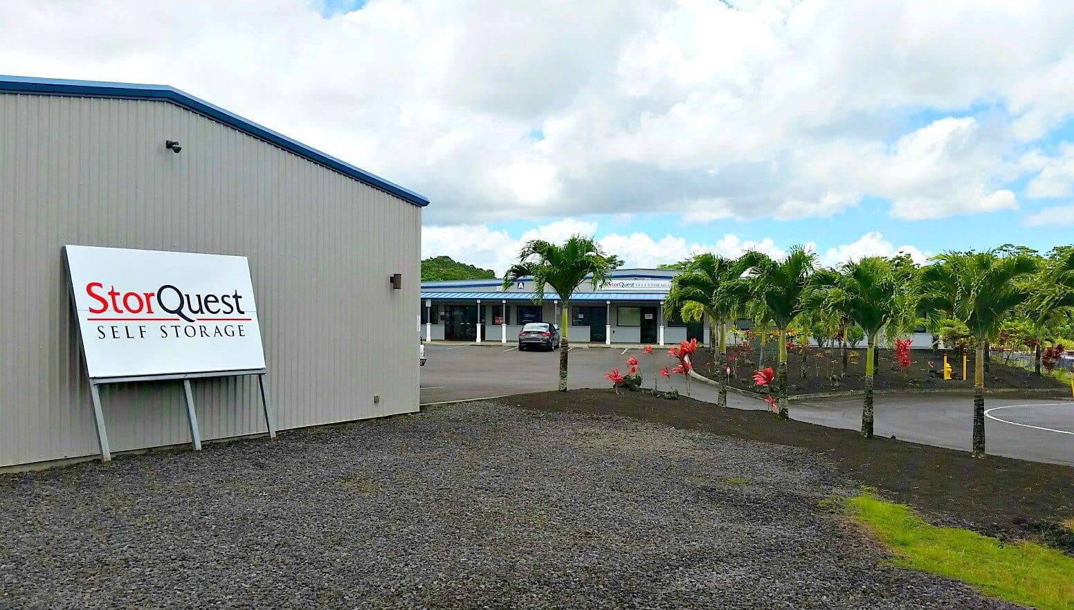 Sizes and prices of Kea'au self storage units