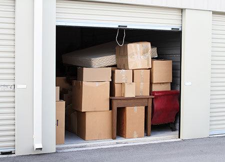 Moving truck and driver at Queen Creek self storage