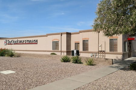 Exterior view of StorQuest Self Storage in Tucson, AZ