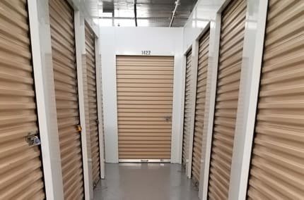 Interior view of elevators at StorQuest Self Storage