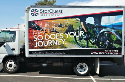 Move-in truck at StorQuest Self Storage