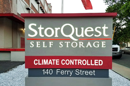 Beau Front Entrance Sign At StorQuest Self Storage In CT