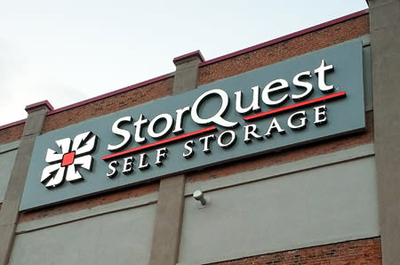 Front Entrance Sign At Storquest Self Storage In New Haven Ct