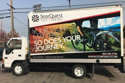 Free truck and driver at StorQuest Self Storage