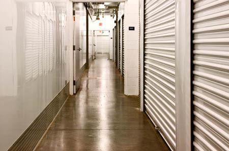 Interior hallway for self storage units in Aurora