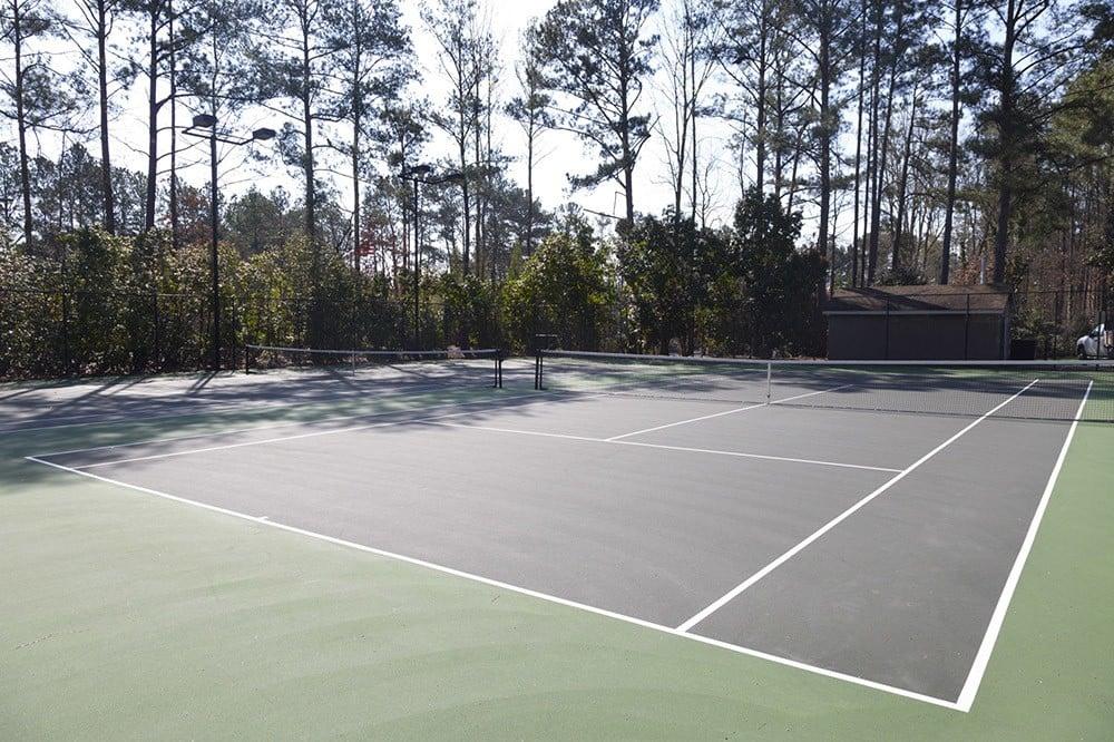 Tennis courts at Jasmine Woodlands in Smyrna, Georgia