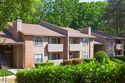 Exterior Of apartments at Jasmine Woodlands in Smyrna, Georgia