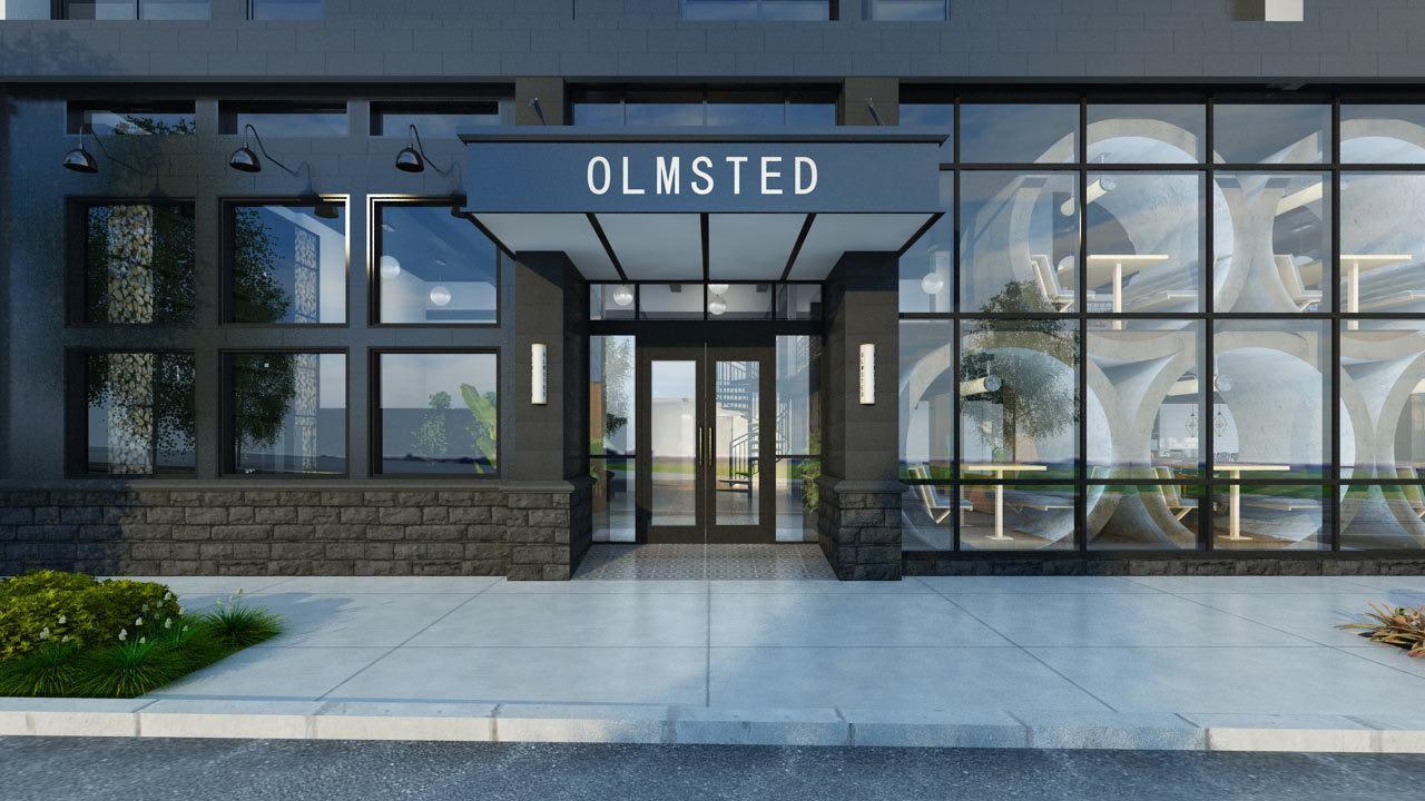 Rendering of main entrance exterior of Olmsted Nashville in Nashville