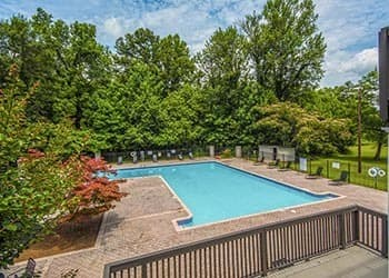 The pool at our Atlanta apartments