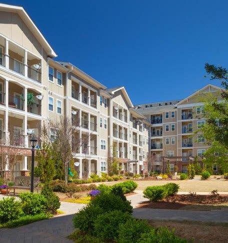 Exterior View Of Apartments In Atlanta