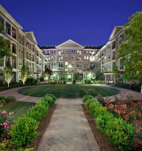 Large luxury apartments with landscaping