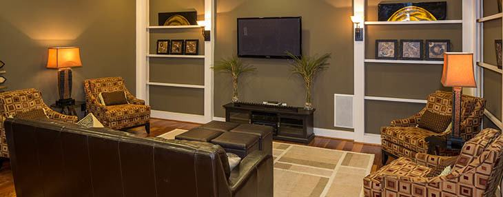 Spacious living rooms at our Newnan apartments