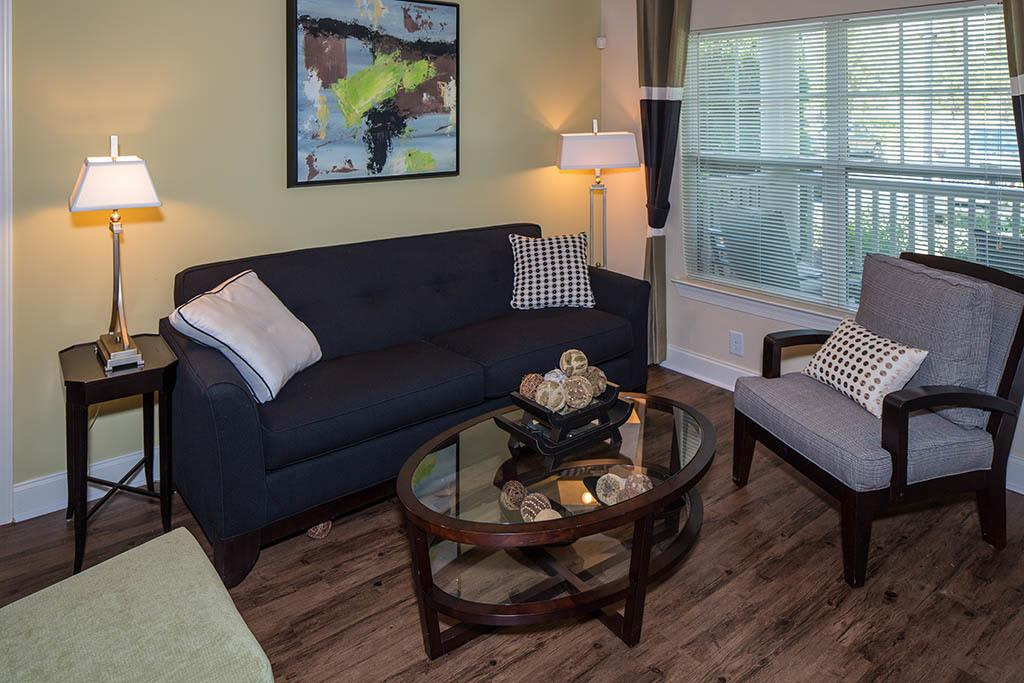 Living room options available at The Preserve at Greison Trail