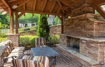 Outdoor patio at The Preserve at Greison Trail