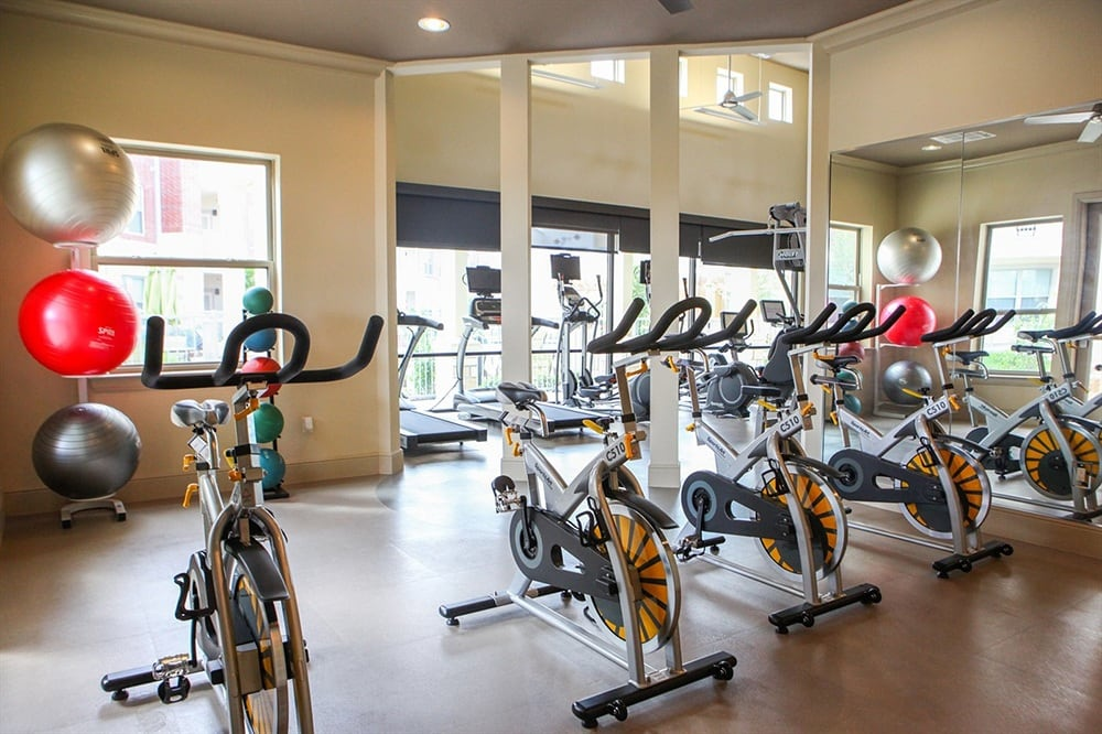 Workout room at The Gateway in Plano, TX