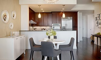 Open Kitchen At Luxury Apartments In Atlanta Georgia