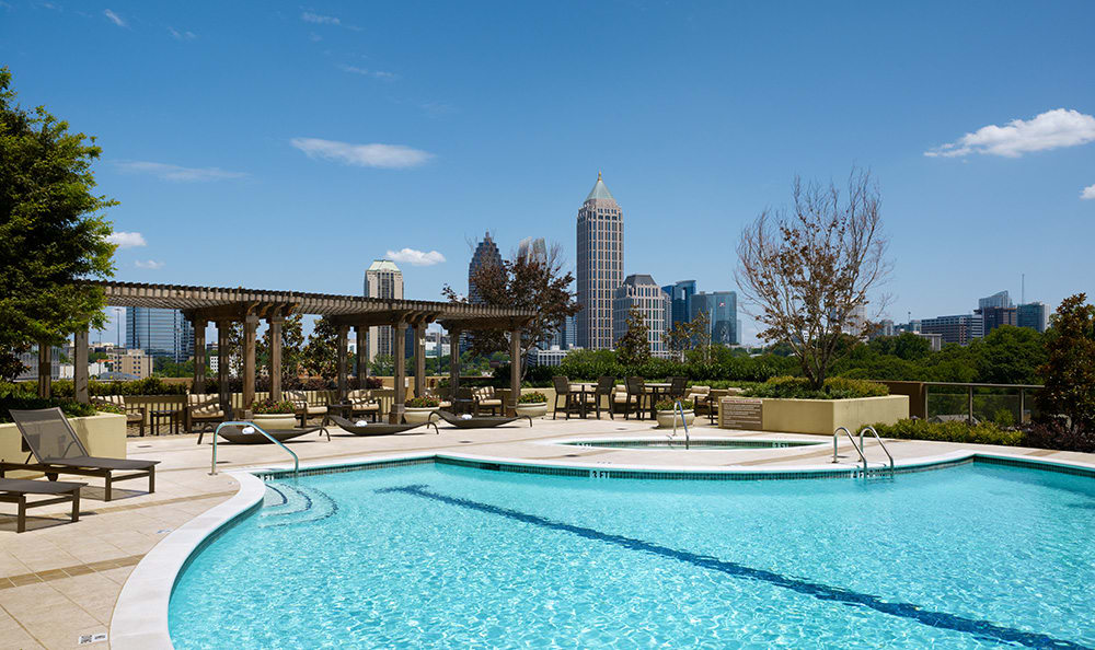 Swimming Pool At Luxury Apartments In Atlanta Georgia