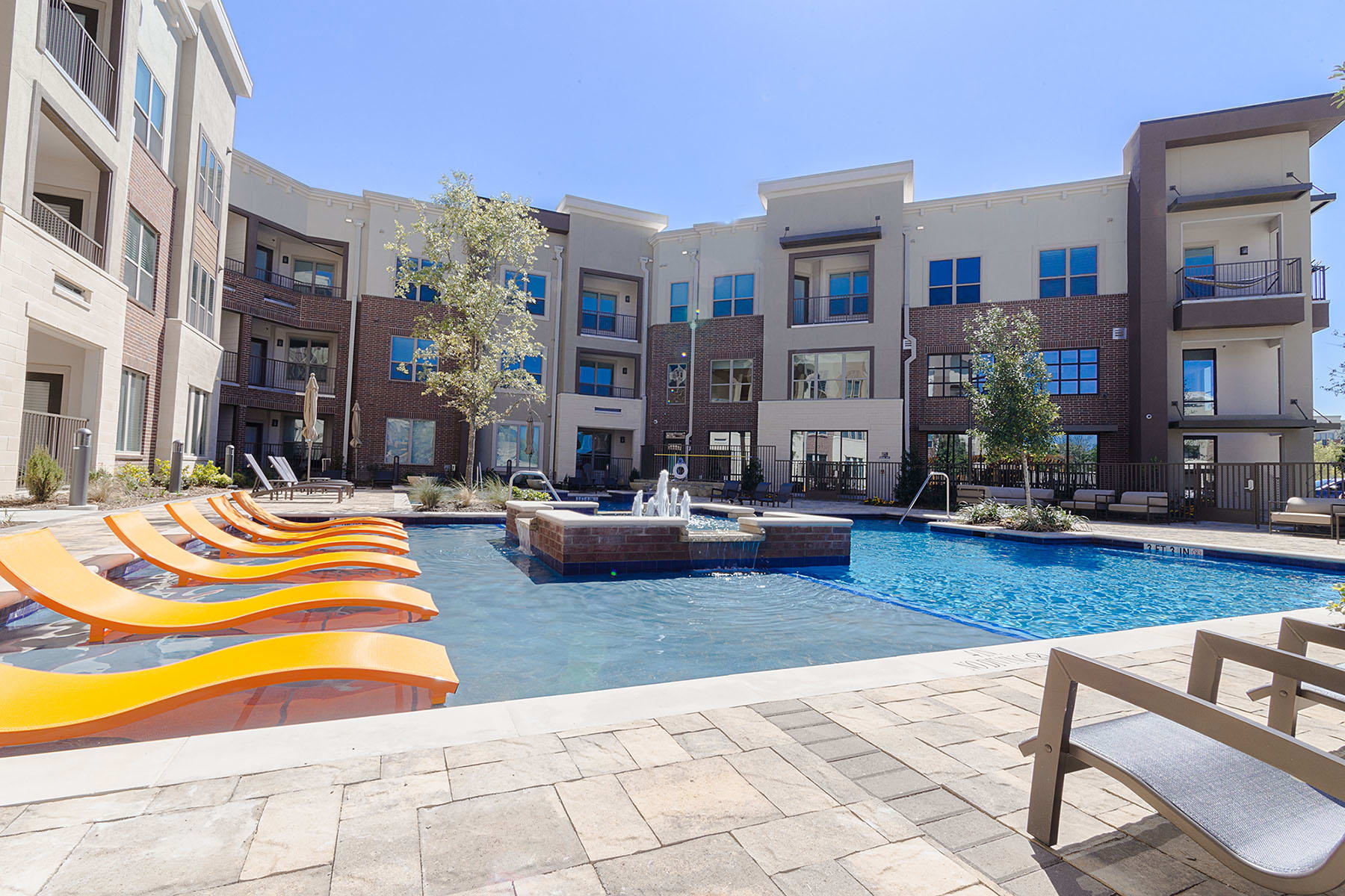 Pool at our Plano, TX, apartments
